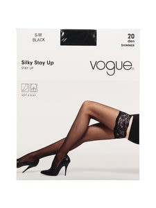 Vogue - Silky-stay-up-sukat 20 den - BLACK | Stockmann