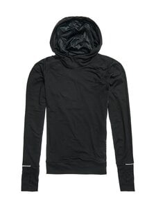Superdry Sport - Running Hooded Mid Layer -juoksupaita - 02A BLACK | Stockmann