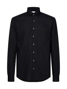 Calvin Klein Menswear - Slim Poplin Stretch Shirt -kauluspaita - 001 DF BLACK | Stockmann