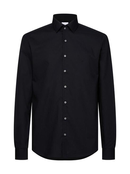 Calvin Klein Menswear - Slim Poplin Stretch Shirt -kauluspaita - 001 DF BLACK | Stockmann - photo 1