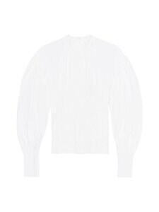 Ganni - Cotton Poplin Blouse -pusero - BRIGHT WHITE | Stockmann
