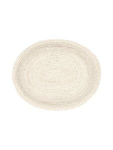 Dixie - Braided Oval -tabletti 45 x 35 cm - WHITE   Stockmann