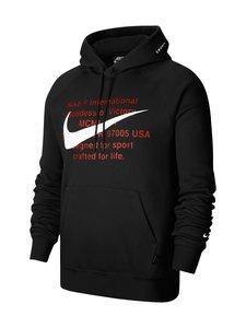 Nike - Swoosh Hoodie -huppari - 010 BLACK/WHITE | Stockmann