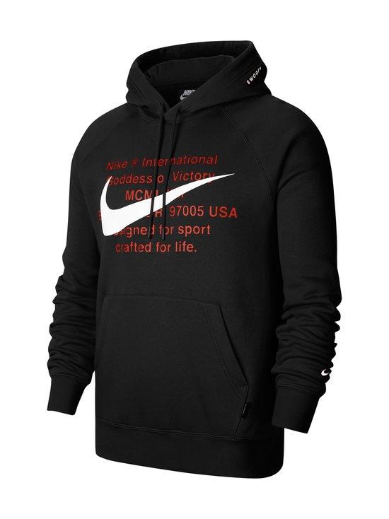 Nike - Swoosh Hoodie -huppari - 010 BLACK/WHITE | Stockmann - photo 1