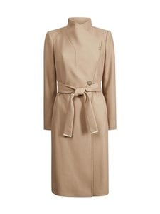 Ted Baker London - Rose Midi Wool Wrap Coat With Shoulder Panels -villakangastakki - CAMEL | Stockmann