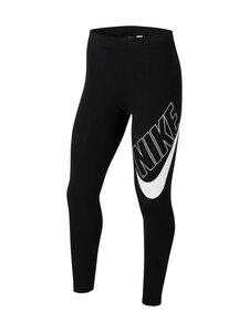Nike - Big logo thigh-leggingsit - BLACK/WHITE | Stockmann
