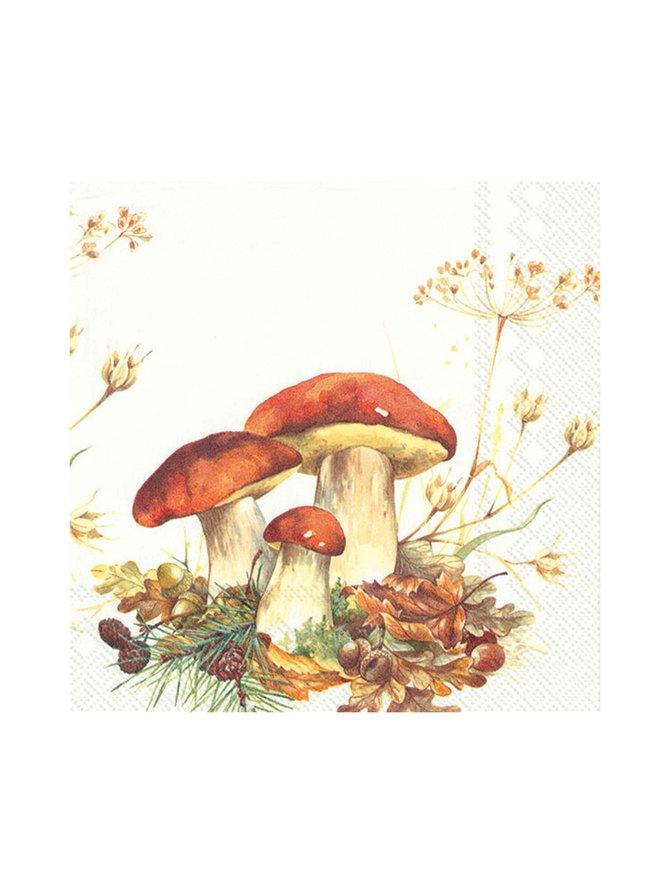 Boletus Edulis -servetti 33 x 33 cm
