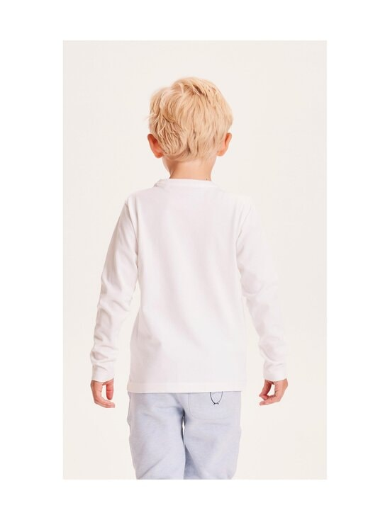 Knowledge Cotton Apparel - Flax Young Knowledge Long Sleeve -paita - 1010 BRIGHT WHITE   Stockmann - photo 2