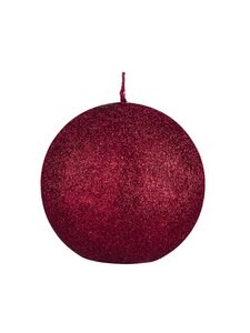 Balmuir - Glitter-pallokynttilä 10 cm - RED | Stockmann