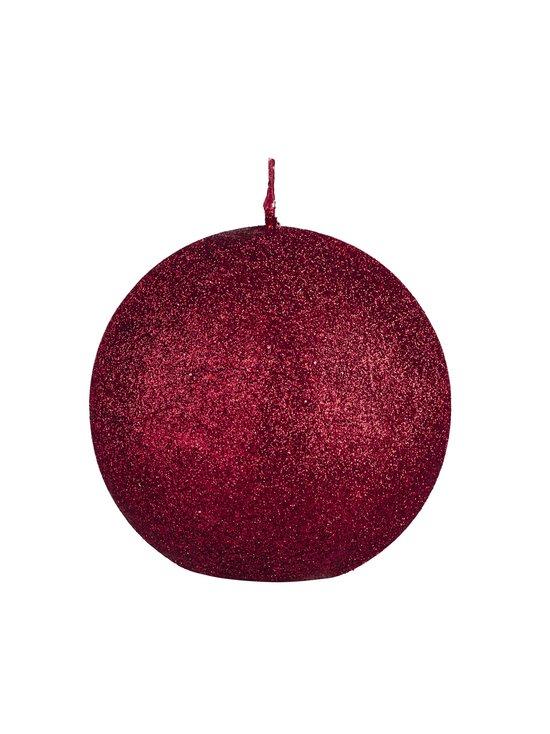 Balmuir - Glitter-pallokynttilä 10 cm - RED | Stockmann - photo 1
