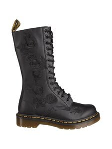 Dr. Martens - 1914 Vonda Mono Flower Embro Mid Tall -nahkasaappaat - BLACK | Stockmann