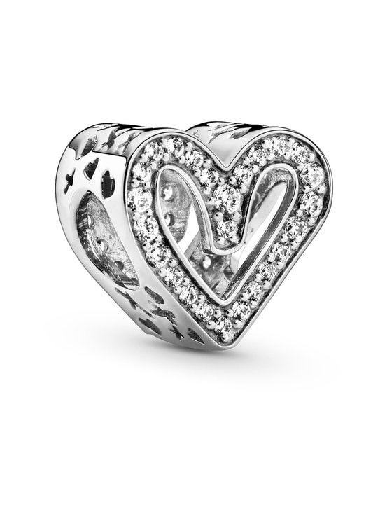 Pandora - Sparkling Freehand Heart-hela - 798692C01 SILVER | Stockmann - photo 1