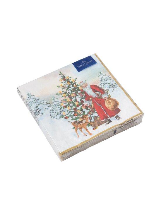 Villeroy & Boch - Winter Specials L-Napkin Santa With Fir Tree -servetti 33 x 33 cm - MULTICO   Stockmann - photo 1