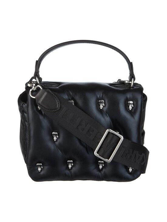 Karl Lagerfeld - K/Ikonik 3D Multi Pin Flap Shoulder Bag -laukku - 980 MTLLC BLK | Stockmann - photo 1