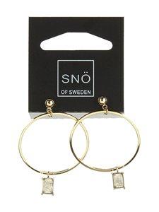 Snö Of Sweden - Satin Ring Pendant -korvakorut - GOLD GREY | Stockmann