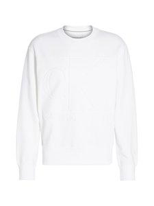 Calvin Klein Jeans - Embossed Fashion Crew Neck -collegepaita - YAF BRIGHT WHITE | Stockmann