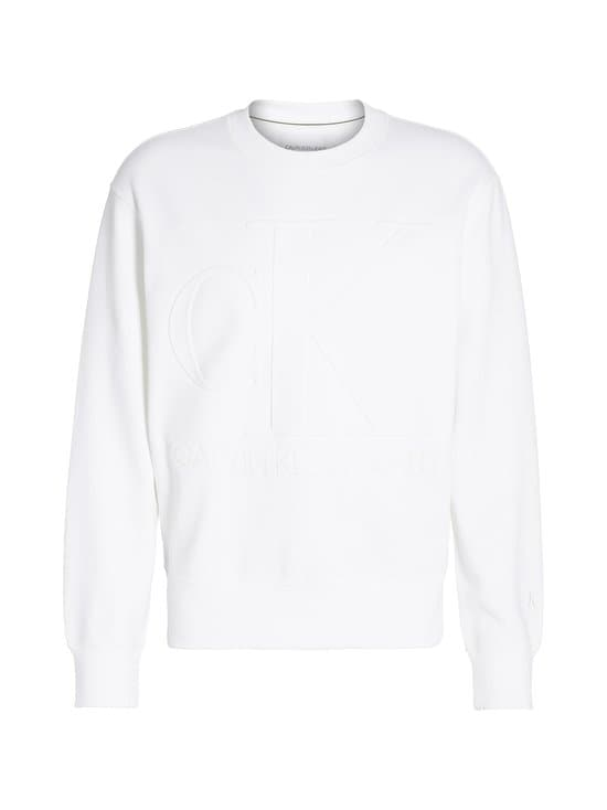 Calvin Klein Jeans - Embossed Fashion Crew Neck -collegepaita - YAF BRIGHT WHITE   Stockmann - photo 1