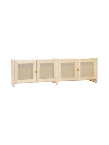 Lundia - Classic -taso 32 x 49 x 164,5 cm - NATURAL LACQUERED PINE / RATTAN | Stockmann