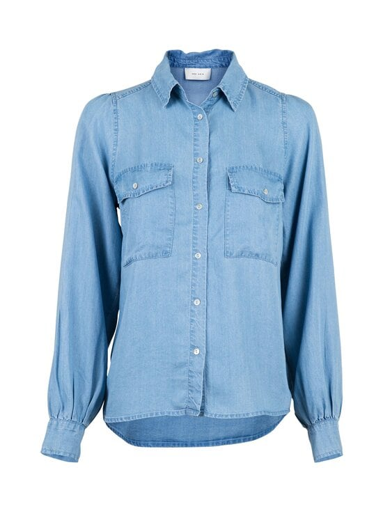 Neo Noir - Amber Chambray Shirt -pusero - 843 VINTAGE BLUE | Stockmann - photo 1