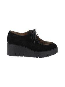 Wonders - E 6231 walking shoe laces -kävelykengät - VELDRY NERO/ GHEPARD OLIVE | Stockmann
