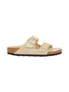 BIRKENSTOCK - Arizona Shiny Python -sandaalit - EGGSHELL/GOLD   Stockmann