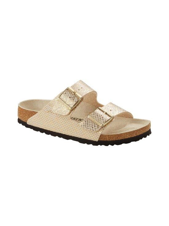 BIRKENSTOCK - Arizona Shiny Python -sandaalit - EGGSHELL/GOLD | Stockmann - photo 3
