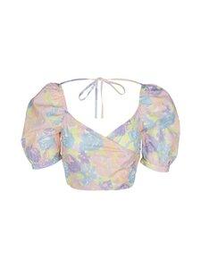 NA-KD - Puff Sleeve Wrap -paita - FLOWER PRINT | Stockmann