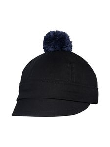 Costo - Asmat-hattu - BLACK DENIM WITH DARK GREY BOBBLE | Stockmann