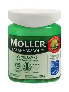 Möller - Möller Omega-3 & A-D-vitamiinit -kalanmaksaöljy 108 g/120 kpl | Stockmann