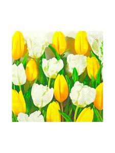 Ihr - Tulips-servetti 33 cm - KELTAINEN   Stockmann