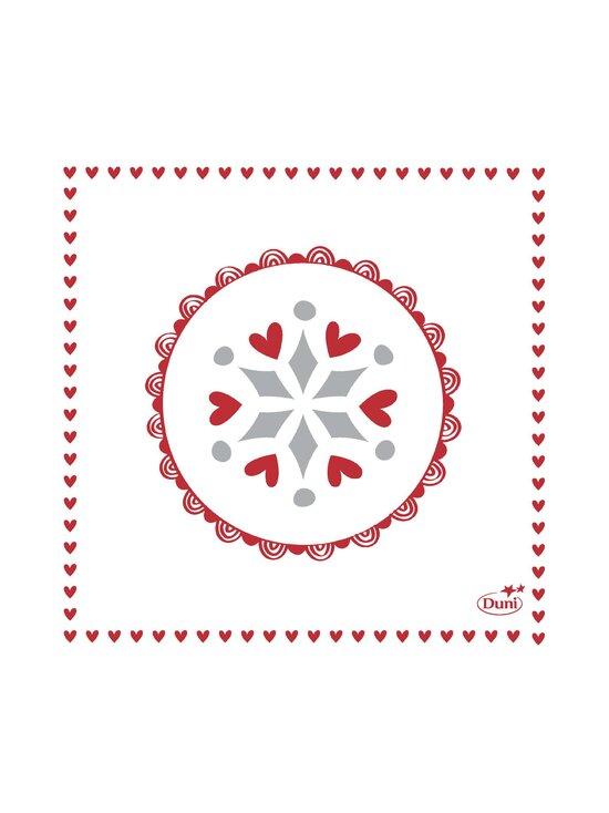 Duni - Scandi-servetti 24 x 24 cm, 20 kpl - RED-WHITE   Stockmann - photo 1