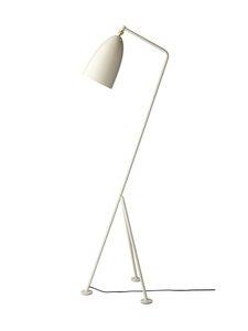 Gubi - Gräshoppa Floor Lamp -lattiavalaisin 125 cm - OYSTER WHITE SEMI MATT | Stockmann