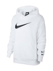Nike - W Sportswear Swoosh Hoodie -huppari - 100 WHITE/BLACK | Stockmann