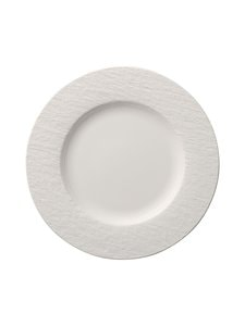 Villeroy & Boch - Manufacture Rock Blanc -lautanen 27 cm - WHITE | Stockmann