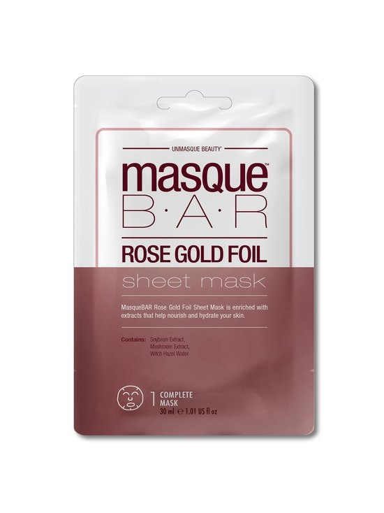 Masque Bar - Rose Gold Foil Sheet Mask -kasvonaamio - NOCOL | Stockmann - photo 1