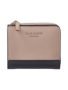 kate spade new york - Spencer Small Bifold Wallet -nahkalompakko - 195U WARM BEIGE/BLACK | Stockmann