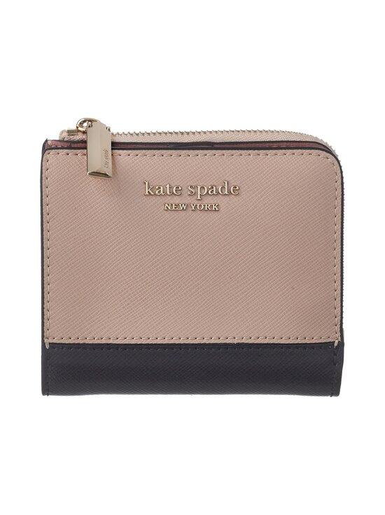 kate spade new york - Spencer Small Bifold Wallet -nahkalompakko - 195U WARM BEIGE/BLACK | Stockmann - photo 1