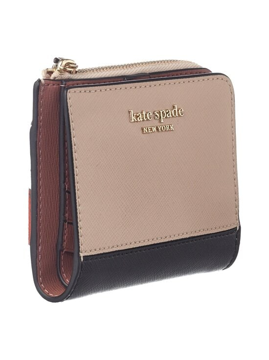 kate spade new york - Spencer Small Bifold Wallet -nahkalompakko - 195U WARM BEIGE/BLACK | Stockmann - photo 3
