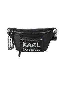 Karl Lagerfeld - K/Soho Graffiti Bumbag -nahkalaukku - A998 BLACK/WHITE   Stockmann