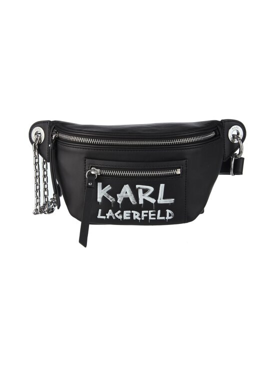 Karl Lagerfeld - K/Soho Graffiti Bumbag -nahkalaukku - A998 BLACK/WHITE | Stockmann - photo 1