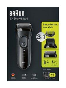 Braun - Series 3 Shave&Style 3000BT -parranajokone ja partatrimmeri | Stockmann