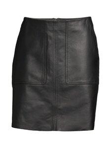 Marc O'Polo - Leather Skirt -hame - 990 BLACK   Stockmann