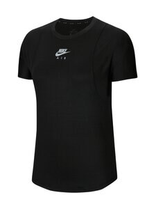 Nike - Air Top SS -treenipaita - 010 BLACK/REFLECTIVE SILV | Stockmann