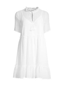NA-KD - Short Sleeve Flowy Mini Dress -mekko - WHITE | Stockmann