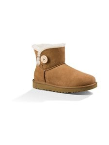 UGG - W Mini Bailey Button II -nilkkurit - CHESTNUT | Stockmann
