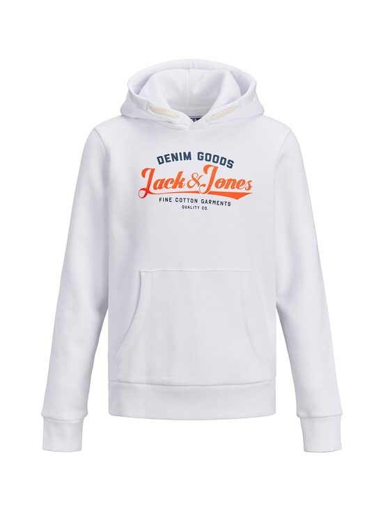 JACK & JONES junior - JjeNeon Logo -huppari - WHITE | Stockmann - photo 1