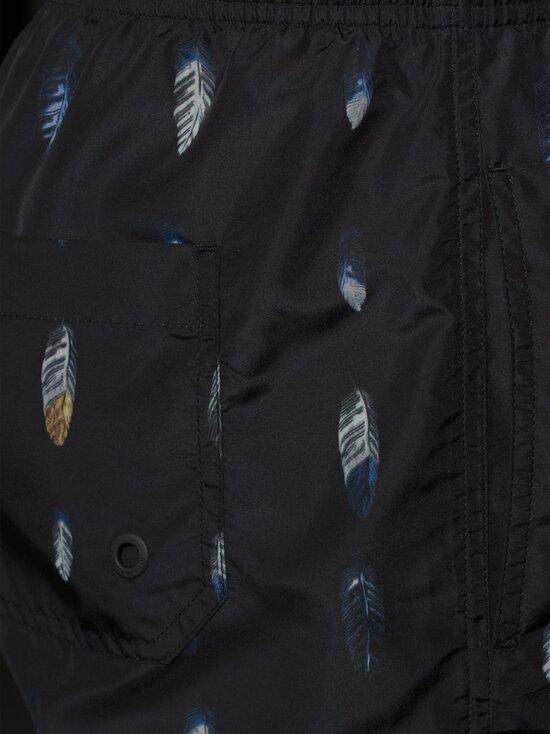 MARCELO BURLON - Allover Feathers Boardshorts -shortsit - 1045 BLACK BLUE   Stockmann - photo 3