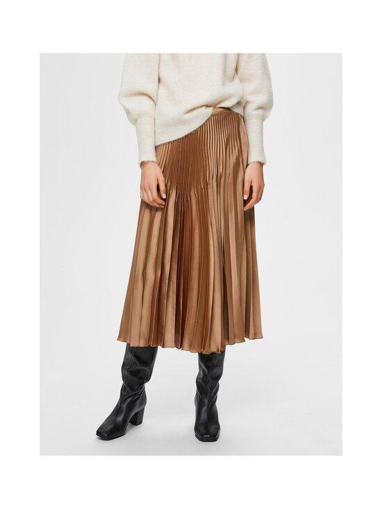 Selected - SlfHarmony MW Midi Pleated Skirt -hame - TIGERS EYE | Stockmann - photo 3