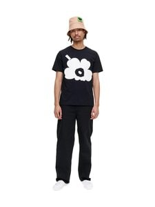 Marimekko - KIOSKI Hiekka Unikko -T-paita - 910 BLACK, OFF WHITE | Stockmann
