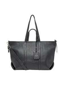 J.Lindeberg - Shopper Leather -nahkalaukku - 9999 BLACK | Stockmann